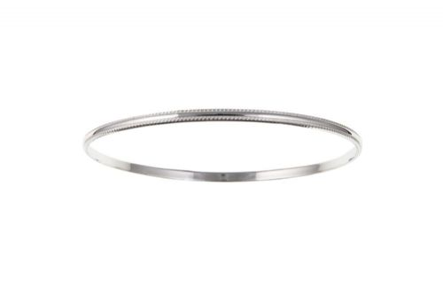 Sterling Silver Beaded Slave Bangle
